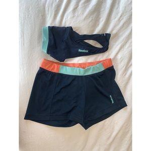 Reebok Activewear Sport Bra and Short Set